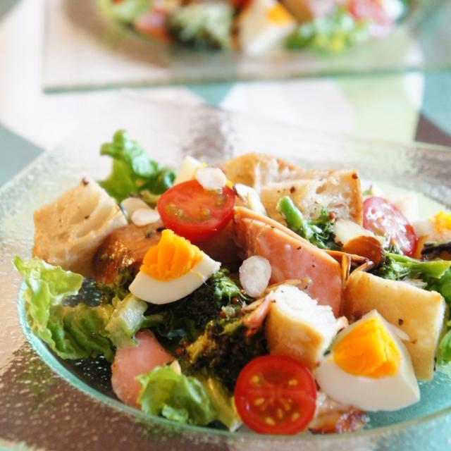 グリルde10分 鮭のボリュームサラダ