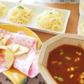 つけスパゲティ☆ピリ辛ミート~ポテトチップ添え~