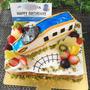 北陸新幹線「かがやき」のバースデーケーキ