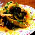 豚コマと茄子の甘酢生姜炒め