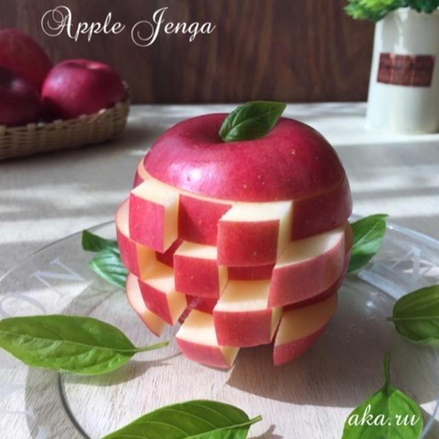 丸ごとリンゴで♪パーティーにオススメ『リンゴジェンガ』