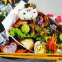 スヌーピーハロウィン弁当スタミナ丼♪&ナカヤ菓子店マロンパイ☆三船とりもつ串☆北海道グルメ☆
