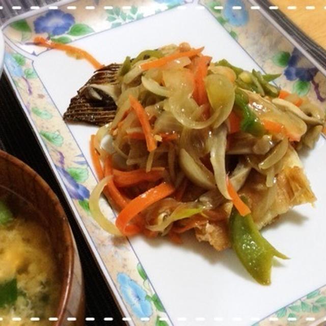 【ほど塩レシピ】カレイの野菜甘酢あんかけ