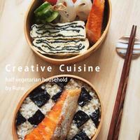 定番★塩鮭と鰹角煮の海苔弁&厚焼き玉子の海苔ミルフィーユ★海苔の栄養