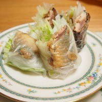 ■レシピ■秋刀魚の南蛮漬け風生春巻き