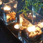 大人の雰囲気でも子供も喜ぶ♡IKEA園芸用の長いお皿を利用してテーブルを涼し気で独特の雰囲気に♡