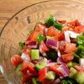 みかんとトルコ料理と羊飼いのサラダからのグリークサラダ風の塩豆腐サラダ➖其ノ陸。
