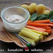 野菜の一味ヨーグルトディップ