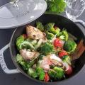 野菜たっぷり♡ブロッコリーとメバルのアクアパッツァ