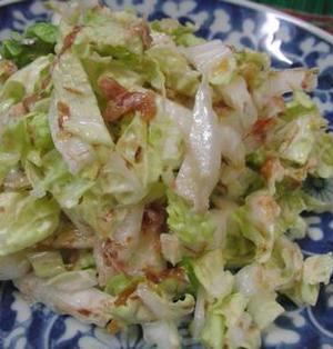 しゃきうま♪ 白菜の梅おかかマヨサラダ