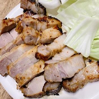 ノンフライヤーで豚バラ味噌漬け焼き