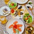 おうち夜ご飯:酢飯でサーモンイクラ丼/Dinner at Home:Salmon Bowl with Sushi-Rice