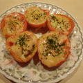 簡単副菜 トマトのチーズ焼き