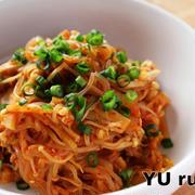 ダイエットメニュー!しらたき切り干しえのきキムチの韓国風炒め