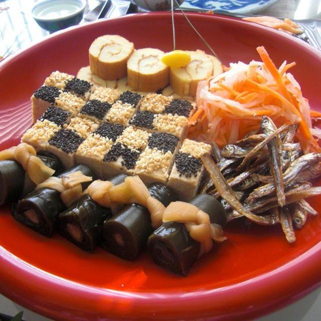 お正月料理★市松のし鶏