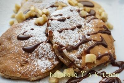 チョコバナナのふんわりパンケーキ