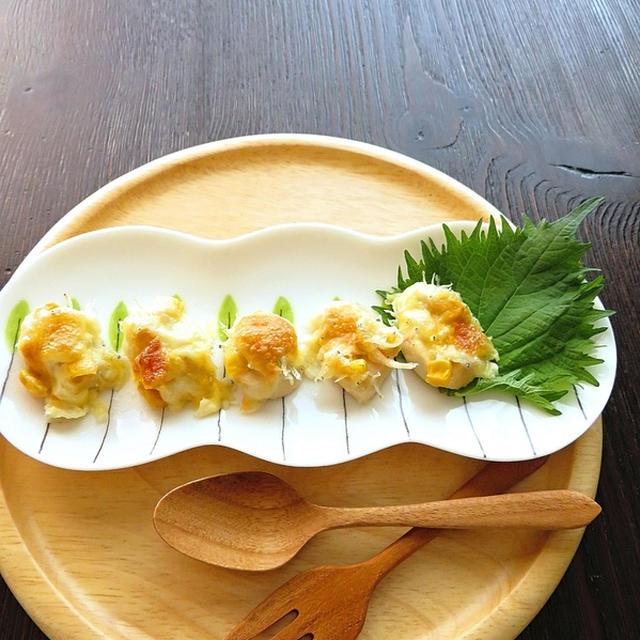 簡単☆ささみとしらすのチーズ焼き
