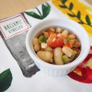 レシピ:簡単!白インゲン豆のデリ風サラダ