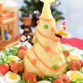 ポテトサラダとミートボールでクリスマス☆