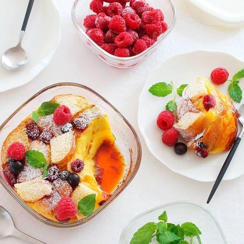 寒い日に食べたい!熱々「#パンプディング」は朝ごはんにもおやつにも