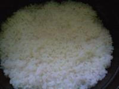 湯立てで白米(670)。。。特別栽培米広島世羅高原産コシヒカリ玄米(あいざわ米店)福井県産越前たけふ特別栽培米コシヒカリ白米(あいざわ米店)
