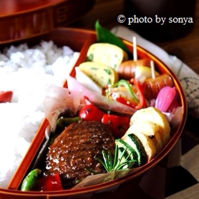 ◆定番ハンバーグ弁当と、千円。