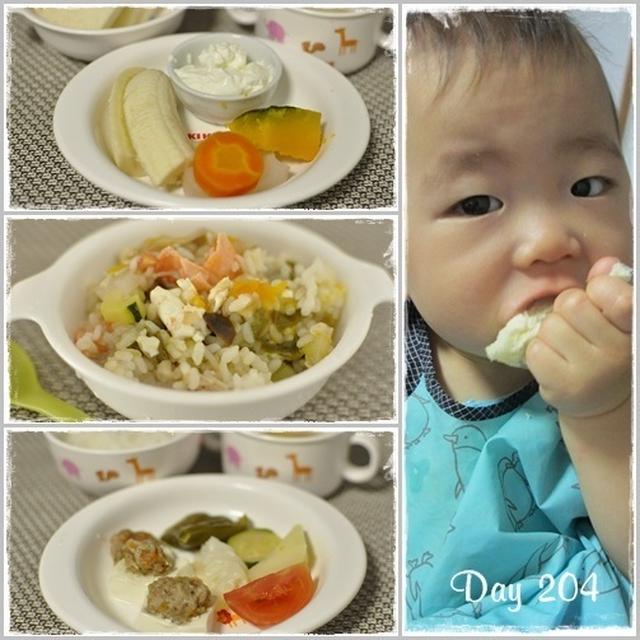 離乳食204日目と205日目~肉だんご豆腐。メカジキと豆腐の甘酢あん。