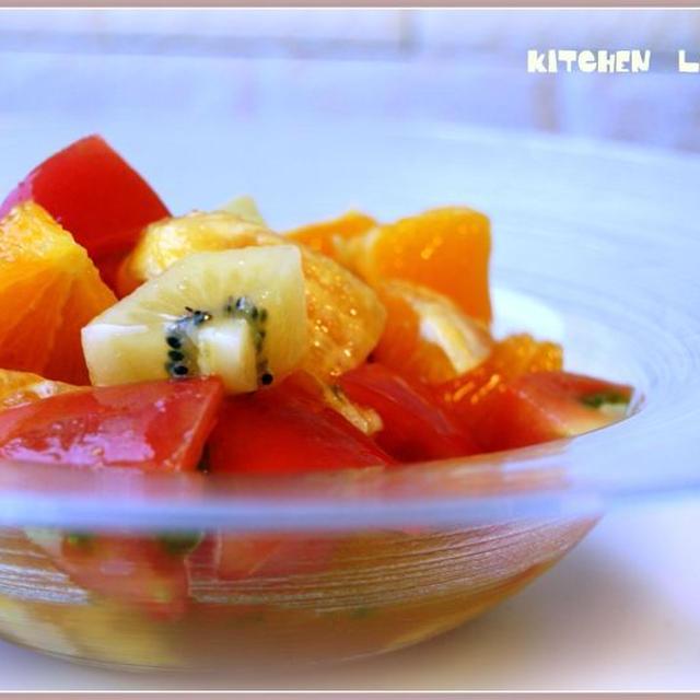 トマトとオレンジとキウイのはちみつレモンマリネ(レシピ)
