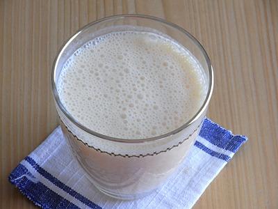 セミノール+ヨーグルト+牛乳のフレッシュジュース