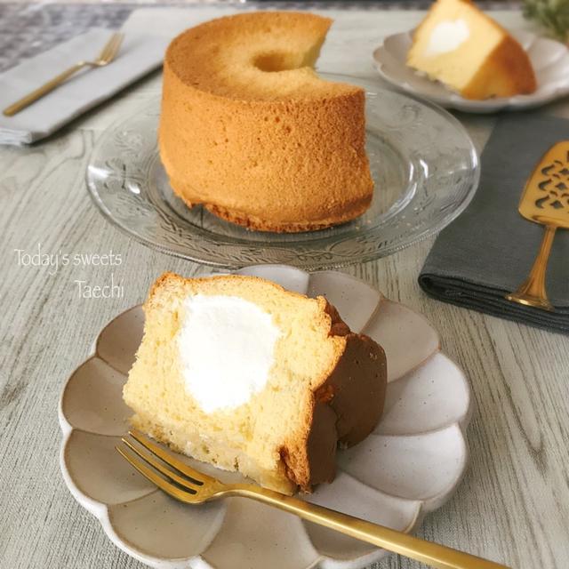 ふわっ生クリームシフォンケーキ