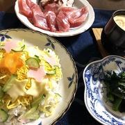 豪雨で休校&七夕ちらし寿司