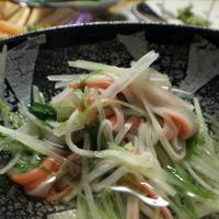 水菜とカニカマのさっと煮 ヤマキの割烹白だし