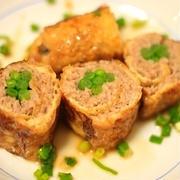 巻き巻き☆豚ひき肉の油揚げロール