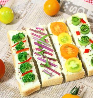 野菜で楽しむ♪ポテトサラダのスティックオープンサンド