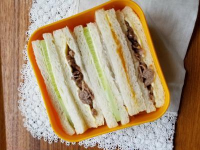 ≪三色サンドイッチ弁当≫