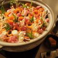 【レシピ】見た目は花畑!?内容はがっつり!キムチ鍋の作り方