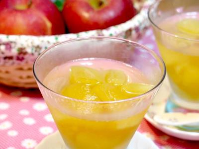 甘酸っぱさが心地良い「りんごのコンポートゼリー」