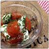パセリドレッシングのトマトとクリームチーズサラダ