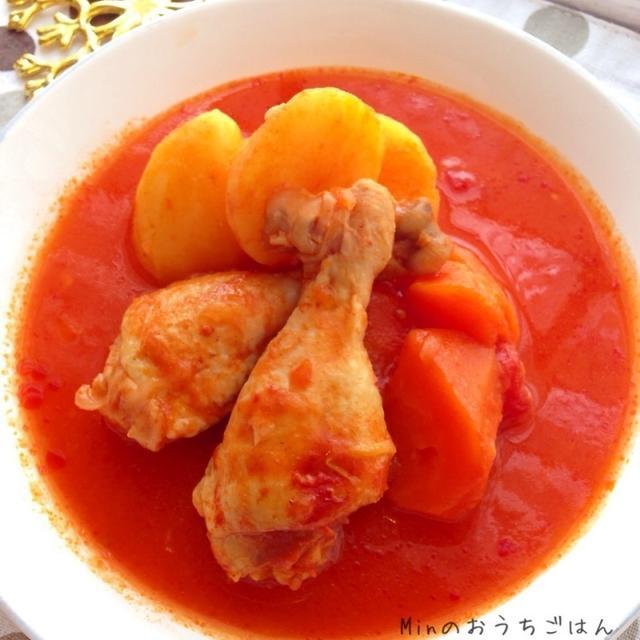 クリスマスにオススメ!圧力鍋で簡単!チキンのトマト煮込み