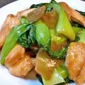 鶏胸肉とチンゲン菜と搾菜の炒め♪ by santababyさん