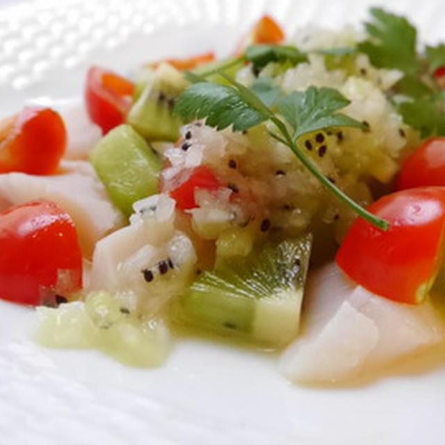 初夏にオススメ☆ ホタテとキウイのサラダ