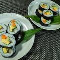 シメサバの巻き寿司と長崎ひもの♪