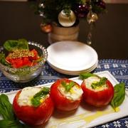 クリスマスに☆モッツァレラチーズとトマトのオーブン焼き