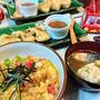 我が家のイチオシ【揚げ玉の玉子丼】de 夕食 & 朝からテンションひくっ、機嫌悪すぎっ!?