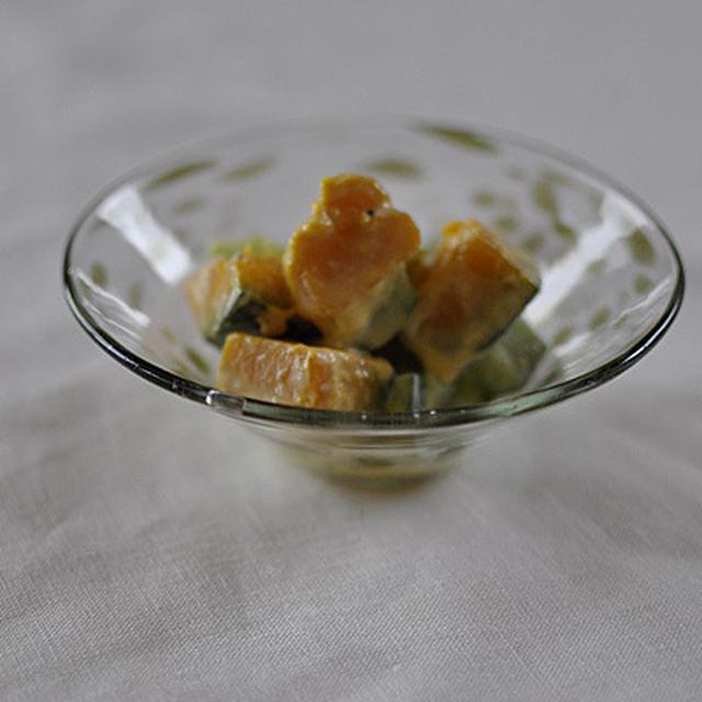 かぼちゃときゅうりのクリームチーズ和え