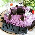✿Happy Halloween かぼちゃde紫いもde手作りモンブランケーキ✿