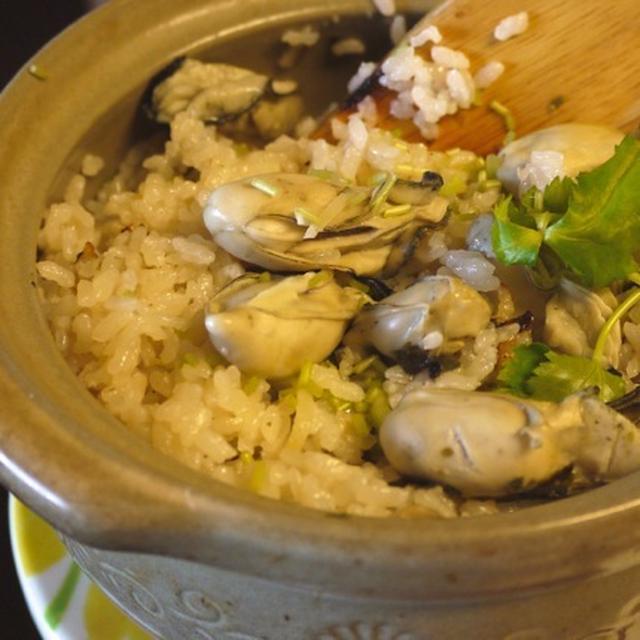牡蠣の炊き込み御飯