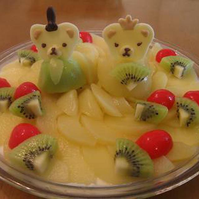 雛祭り仕様のヨーグルトゼリー