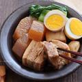 圧力鍋で味がしみしみ!ニンニクたっぷりの豚の角煮のレシピ