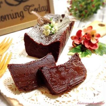 【レシピ】粉なし*生チョコ風ガトーショコラ♡バレンタインにも♪